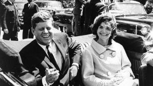 Kennedy and Jackie JFK
