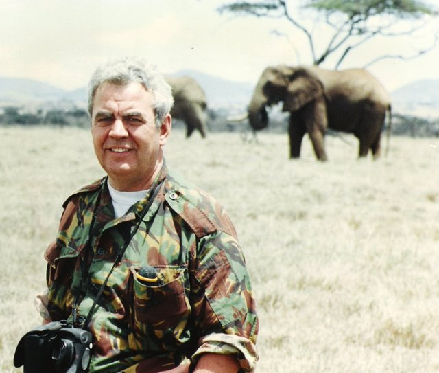 Bill and the elephants in Africa