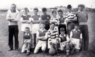 Bill in Boys Guild Camp team at Wicklow with Jimmy Moran