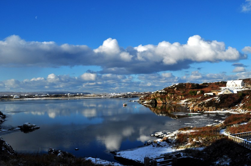 Donegal - Kincasslagh Harbour with a dusting of snow