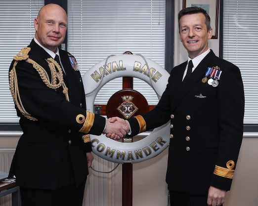 HM Naval Base Clyde has a new hand at the helm with the appointment of Commodore Donald Doull as Naval Base Commander Clyde. Commodore Doull takes over from Commodore Mark Gayfer who has held the top job at HM Naval Base Clyde since February 2016. Commodore Gayfer is retiring from the Royal Navy after 30 years of distinguished service.