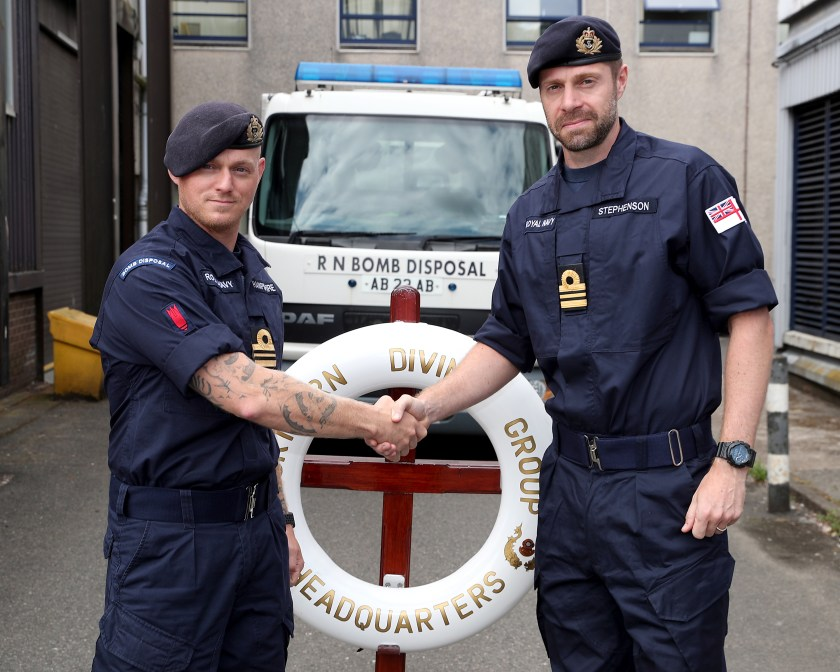 NEW COMMANDING OFFICER FOR CLYDE BASED BOMB DISPOSAL EXPERTS