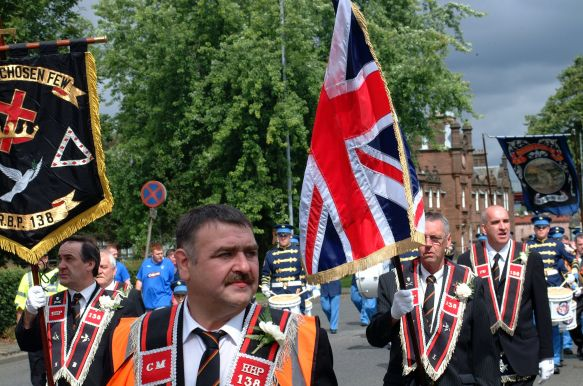 Orangemen on the march in Dumbarton. Picture by Bill Heaney