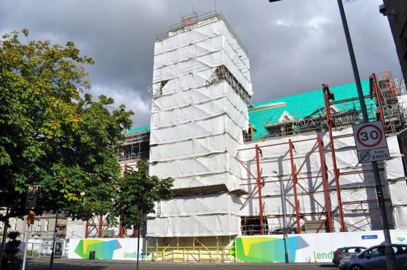 Burgh Hall under wraps