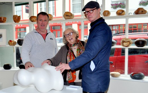 Fest - Richard West and mother Margaret West with Mick O'Dea RHA