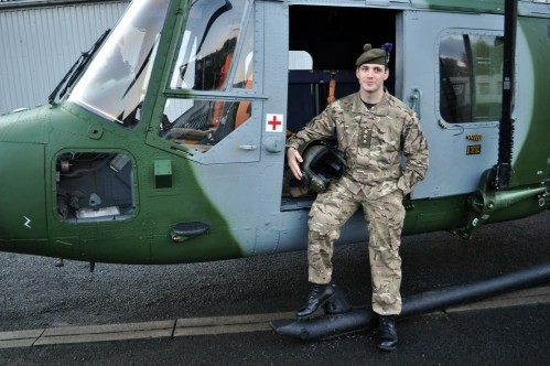 helicopter 3 Captain Charlie Grant Adj 7Scots based at Perth