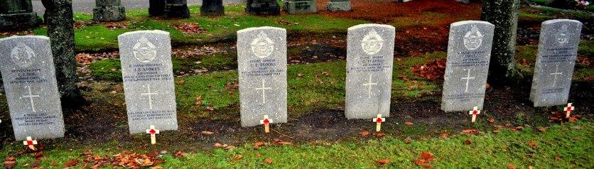 DML remembrance Canada graves at Dumbarton