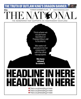 National front page