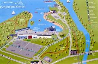 Lomond Shores map