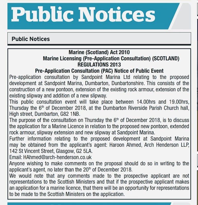 Sandpoint public notice 6