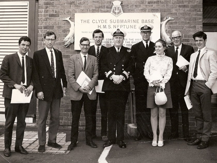 Bill at the opening of the Clyde Sub Base