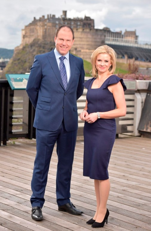 © Sandy young Photography 07970 268944 PICTURED STV News presenters - John MacKay and Kelly-Ann Woodland. E: sandy@scottishphotographer.com W: www.scottishphotographer.com
