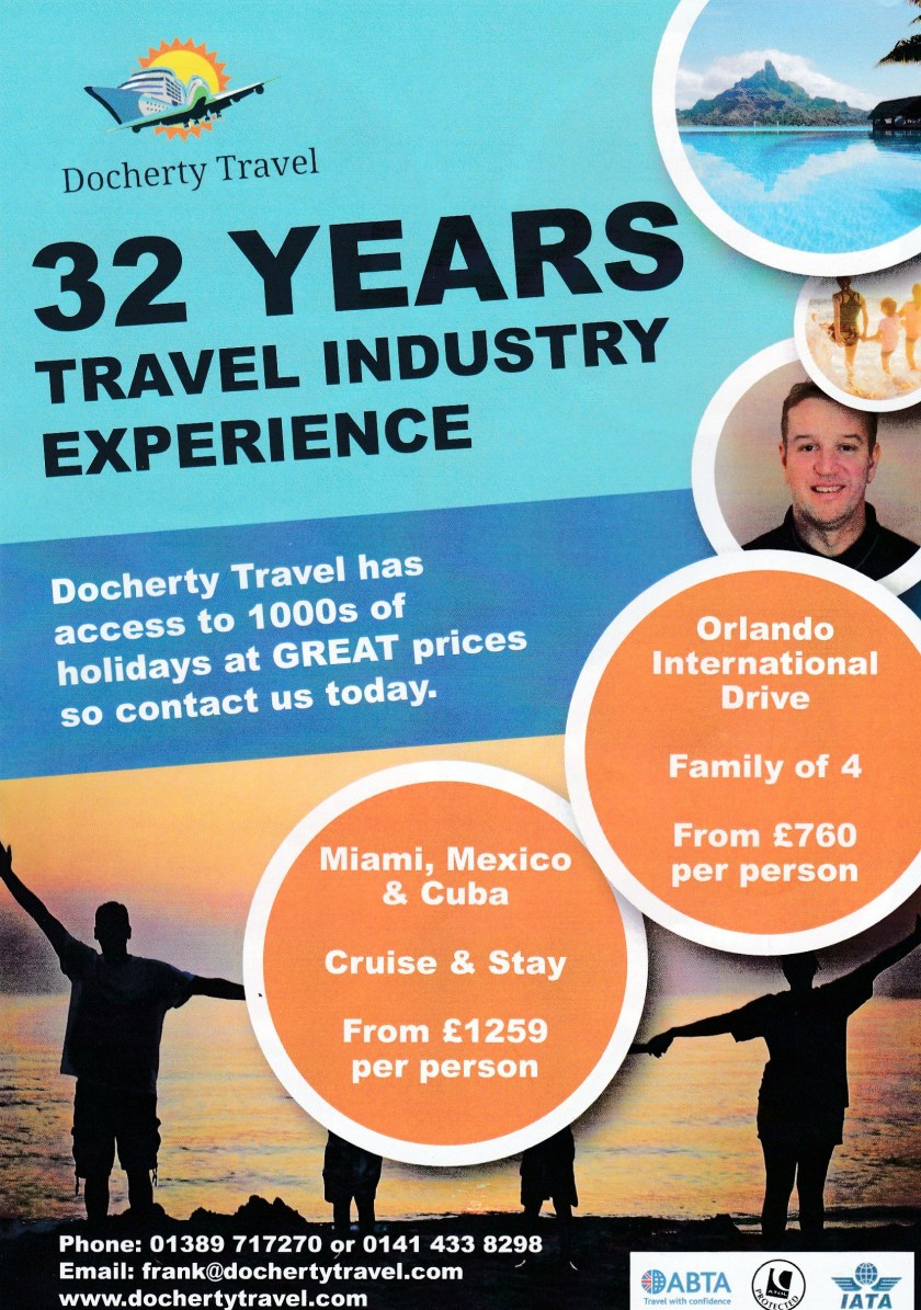 Docherty travel advert