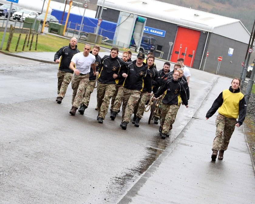 Charity endurance event by field gun team