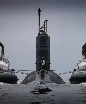 HMS Talent conducted a base port change from Devonport to Faslane. HMS Talent was welcomed by Rear Admiral Submarines, Rear Admiral Weale OBE, Commander Submarine Flotilla, Cdre J Perks OBE, Commanding Officer HMND Clyde Cdre Doull ADC, Assistant Chief of Staff Submarines Cdre Anstey and Captain of the Base Capt C Mearns RN. This move highlights HMNB Clyde as the home of the Submarine Service and Centre of Specialisation for the service.