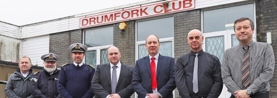 'Breaking Ground' Drumfork Club refurbishmentNaval Base staff, local contractor and a rep from the Royal Navy Royal Marines Charity (RNRMC) 'Breaking Ground' on the refurbishment of the Drumfork Club.