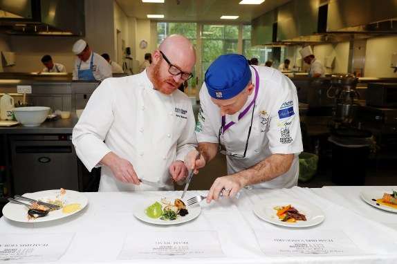 Royal Navy Chefs and Stewards have gone head to head with Culinary Students from The City of Glasgow College in a Cookery Competition. The challenge was to cook a three course meal for four people in 90 minutes, with food and front and house skills being judged. The Competition was judged in part by MasterChef the Professionals' winner Gary MacLean.