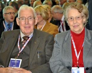 Ian and Eileen Paisley at Cairnryan