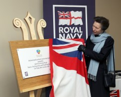 Pictured: HRH The Princess Royal unveils the commemorative plaque marking the opening of the Drumfork Community Centre. HER Royal Highness The Princess Royal opened a renovated facility at the heart of Helensburgh in Argyll and Bute today (January 24). The Drumfork Community Centre in Helensburgh's Churchill Square has undergone £2M of work, with much of the funding coming from the Royal Navy and Royal Marines Charity (RNRMC). The new centre will be a hub for military personnel, their families and members of the wider community.