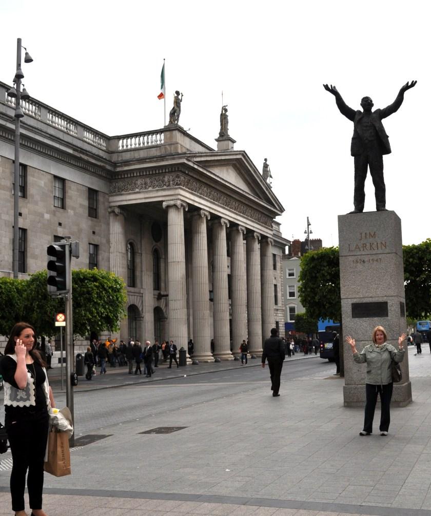 Dublin statues by Ken James Larkin pic by Bill