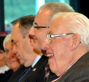 Ian Paisley and Alex Salmond with Danny Kennedy in the middle 2