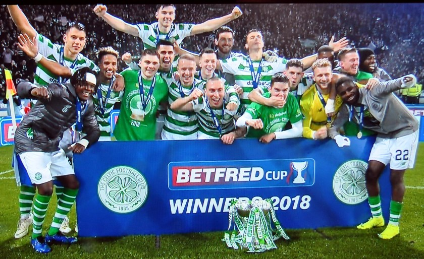 Sport - Celtic with the Cup
