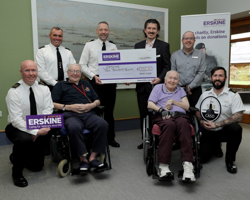 HM NAVAL BASE CLYDE STAFF PRESENT CHEQUE