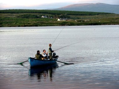 Wild Donegal - a spot of trout fishing in the lakes at Dungloe