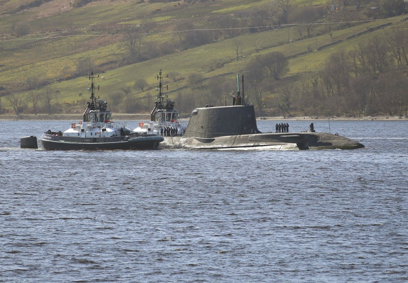 HMS AUDACIOUS ARRIVES AT CLYDE HOME