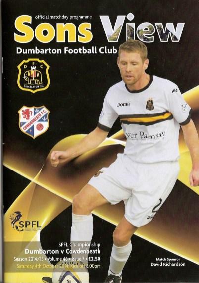 Dumbarton FC programme