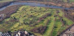 Dumbarton Golf Club from the air
