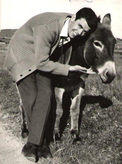 Bill and donkey in Connemara