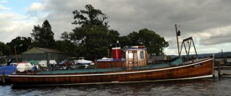 The Marion, the Loch Lomond island ferry which has been operated by the MacFarlane family of Balmaha for many years and which delivers the post round the islands. Bill Heaney