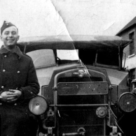 Gillies Jimmy with military vehicle