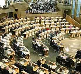 Scottish Parliament in session