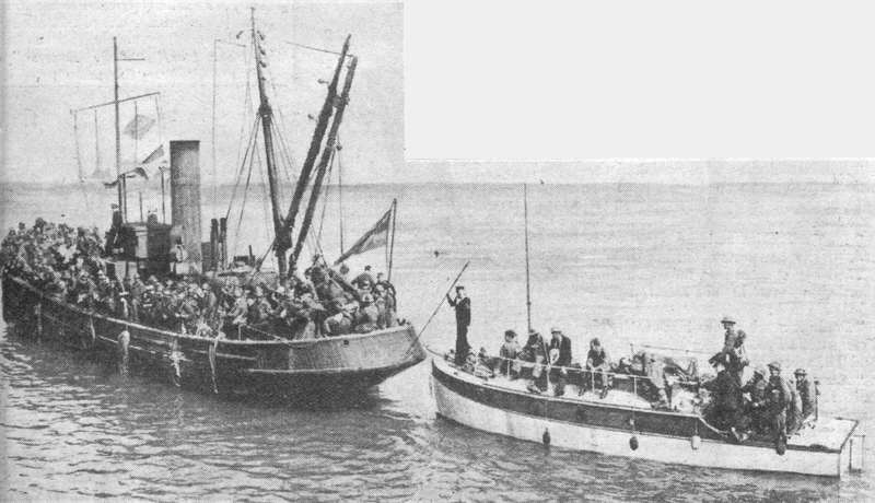 The yacht Cordelia and other small boats supplied the Dunkirk_ferry_service