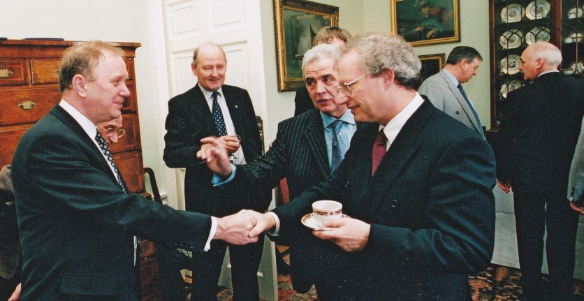 Bill with McLeish in Bute House