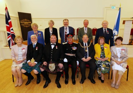 Empire Medal Ceremony 2018 PIC SHOWS LL mike gregory provost Hendrie and the medal winners
