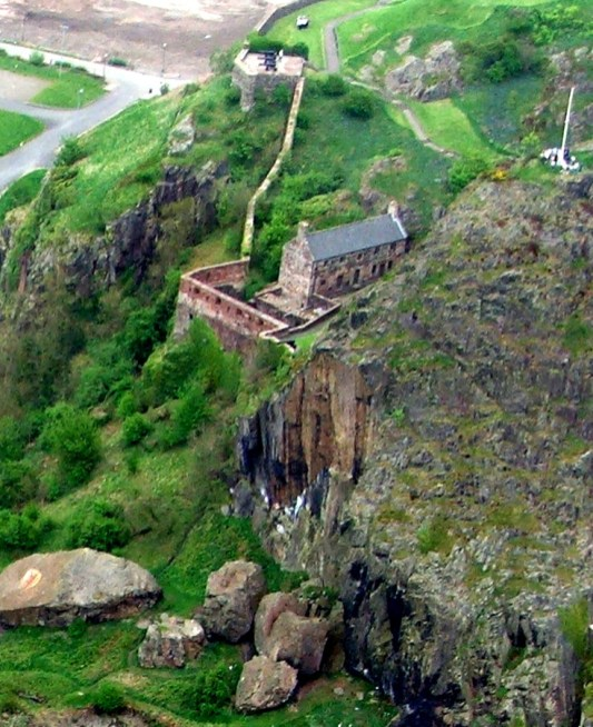 French Prison and Eagle Rock at Dumbarton Castle