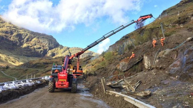 A83 Rest and Be Thankful closed overnight due to rain