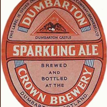 Beer label from Dumbarton Brewery