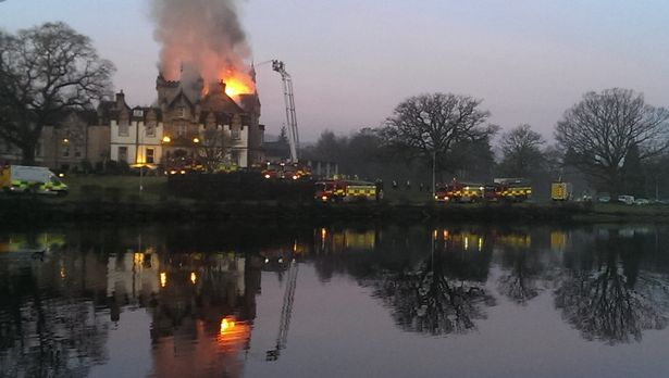 CAMERON HOUSE FIRE WAS CAUSED BY HOT ASH LEFT IN A CUPBOARD BY NIGHT PORTER