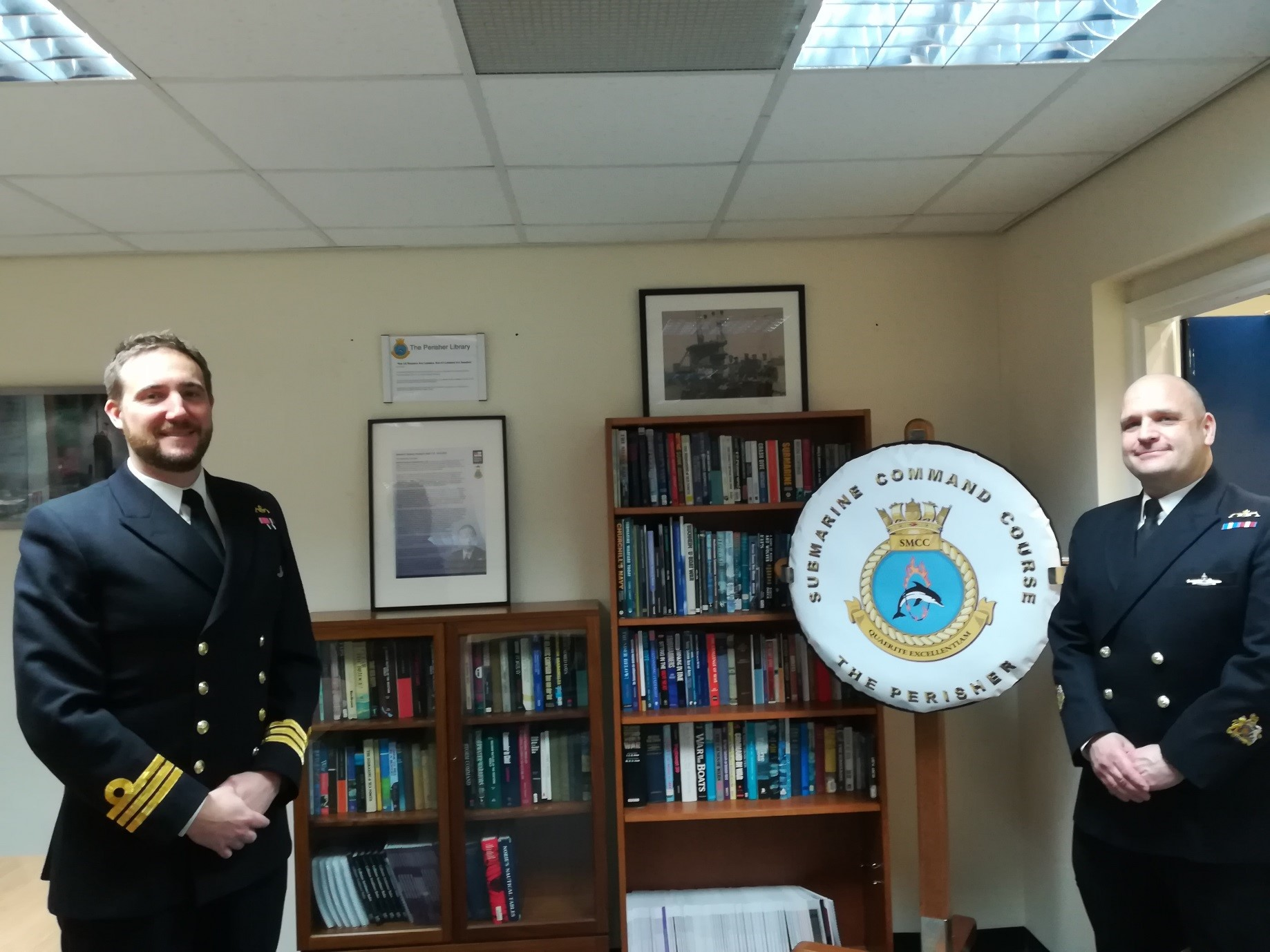 BOOKS: SUBMARINE COMMAND COURSE BENEFITS FROM DONATION OF BOOKS