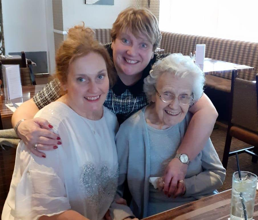 FAMILIES RE-UNITED: THE SMILES SAY IT ALL FOR MARY ROSE CROZIER AND DAUGHTER MARY CARR