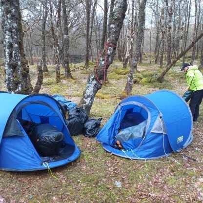 Lochlitter 4Falls of Falloch abandoned campsite