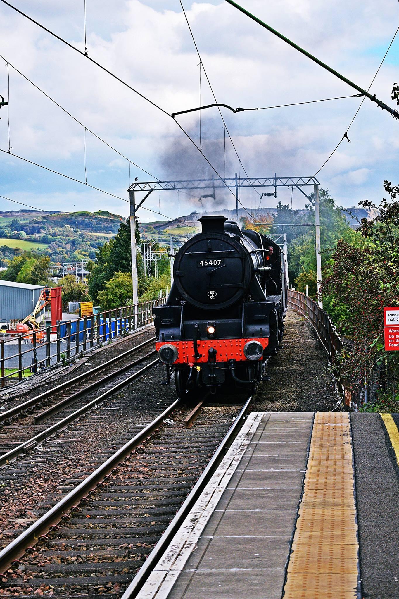 STEAM TRAINS AT ARROCHAR AND DALREOCH RAILWAY STATIONS
