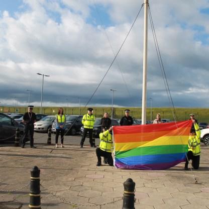 bow 1 20210621-Rainbow Flag raising Coulport