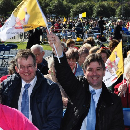 Papal Mass - Julie Graham, Harry McAuley and Charles Cleary were amongst the Dumbarton people at the Papal Mass