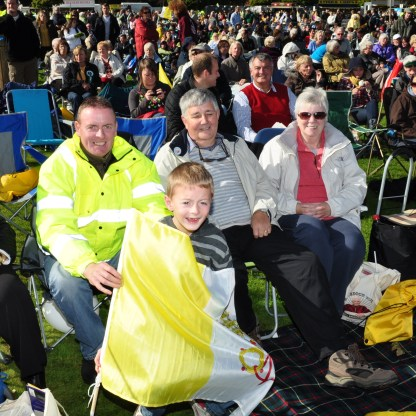 Papal Mass - people from Dumbarton at the Papal Mass in 2010