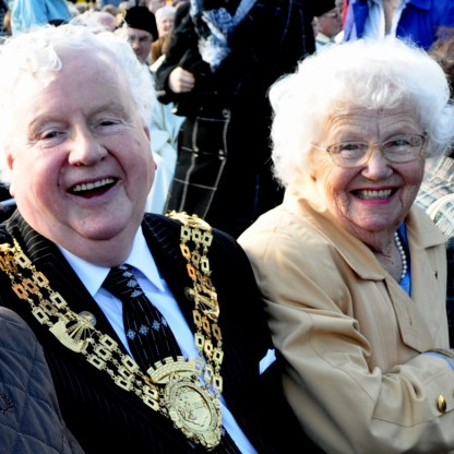 Petrie Billy and Jean at the Papal Mass in Bellahouston, Glasgow